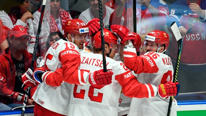 Шесть из шести: Россия победила Швейцарию на ЧМ по хоккею