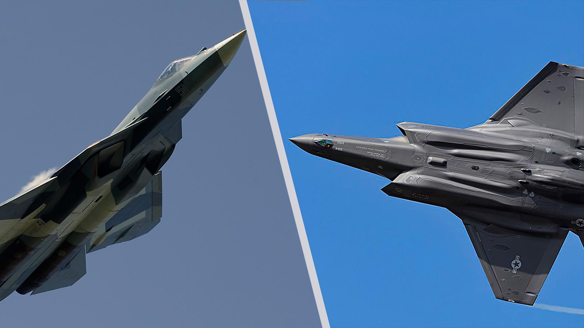 Воздушный бой. СУ-57 или F-35?