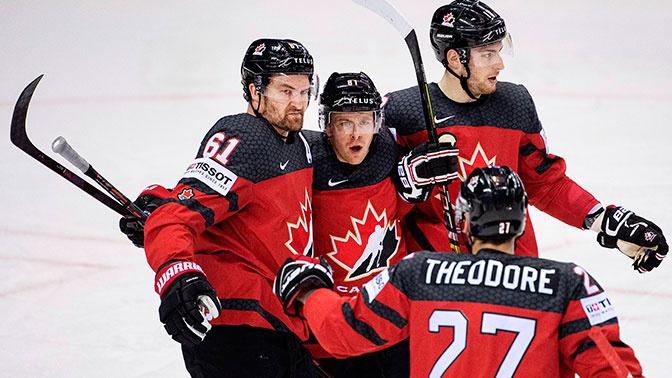 На грани: сборная Канады чудом отыгралась за 0,4 секунды и вышла в полуфинал ЧМ по хоккею