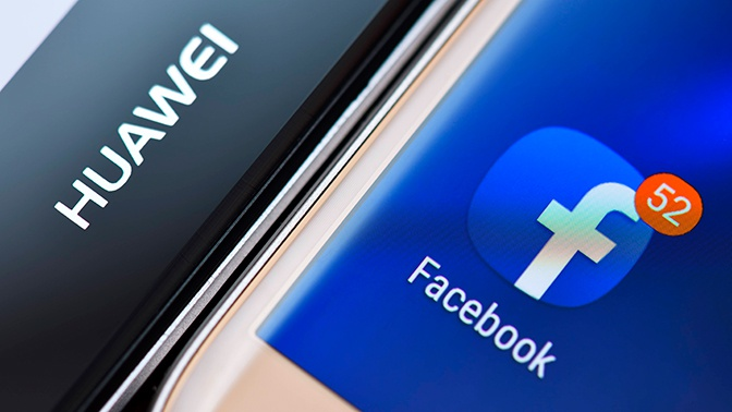 Facebook запретил устанавливать свои приложения на смартфоны Huawei
