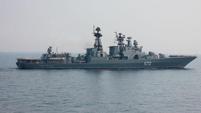 Крейсер ВМС США внезапно пересек курс российскому кораблю в Восточно-Китайском море