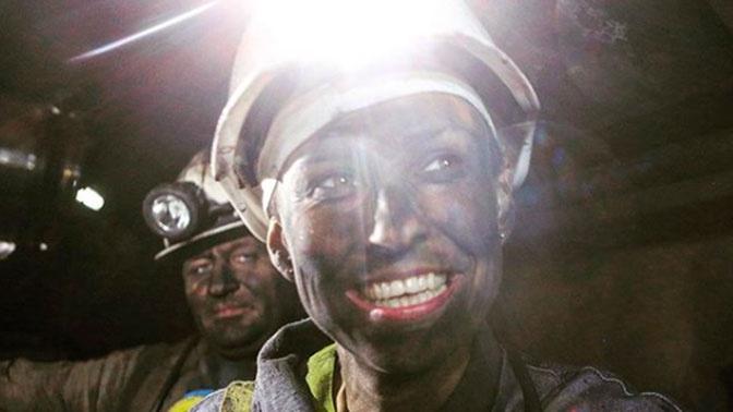 «Добыла 50 кг угля»: Чичерина спустилась в шахту на Донбассе