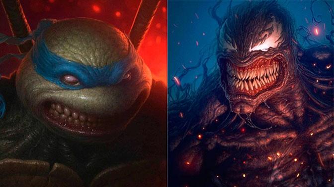 Узнайте, кто это: шведский художник превращает известных персонажей в монстров
