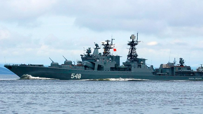 Пять кораблей против подлодки: в Тихом океане прошли учения ВМФ РФ