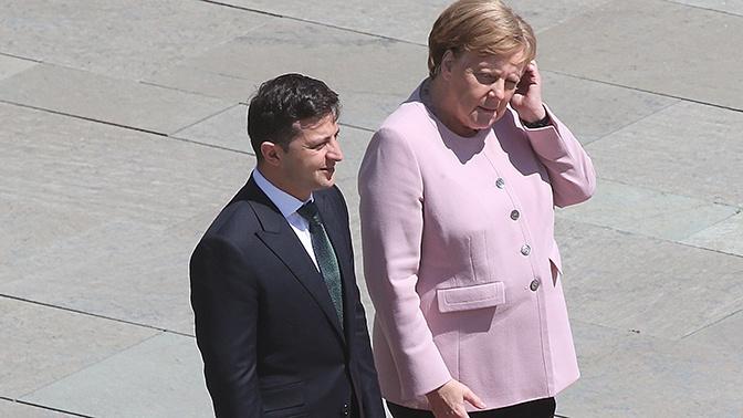Меркель бросило в дрожь во время встречи с Зеленским
