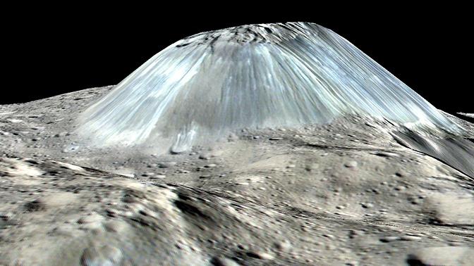 «Человечество не видело такого прежде»: на Церере нашли уникальный ледяной вулкан