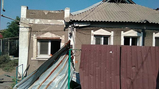 В Донбассе артобстрел повредил шахту и жилые дома