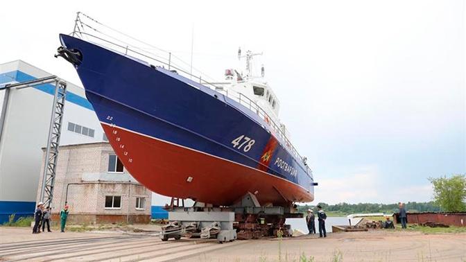 Катер Росгвардии для охраны Крымского моста спустили на воду
