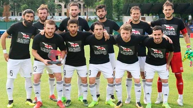 UEFA не станет наказывать грузинских футболистов за форму с националистическими лозунгами