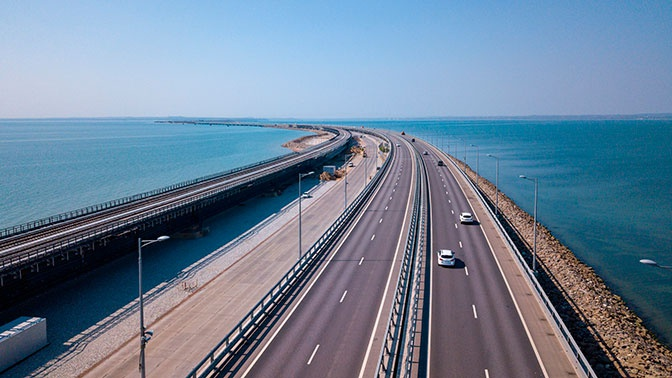 На Крымском мосту зафиксировано рекордное нарушение скорости