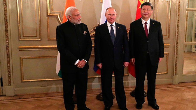 Встреча лидеров РФ, Китая и Индии на G20 запланирована на 28 июня