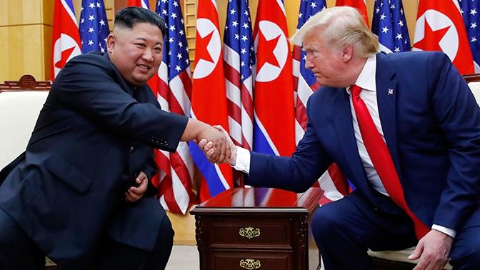 В КНДР назвали исторической встречу Трампа и Ким Чен Ына