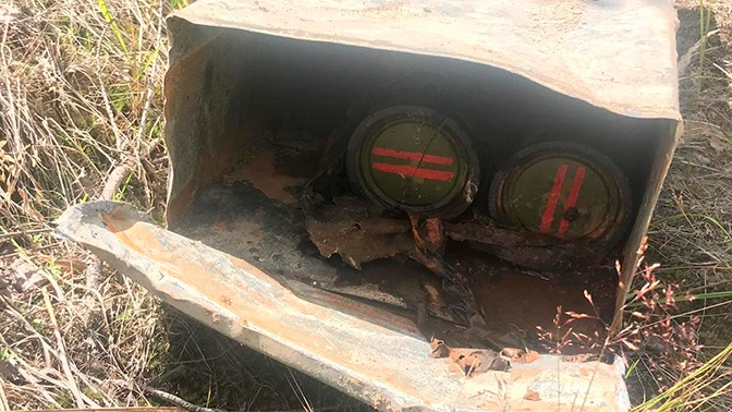 Мужчина нашел в поле под Рязанью два боевых огнемета