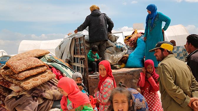Почти 500 человек покинули лагерь Рукбан по гуманитарному коридору