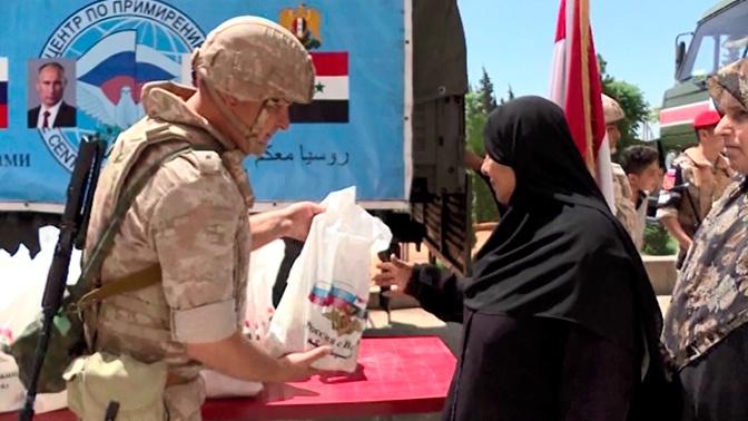 Российские военные провели три гуманитарные акции в Сирии