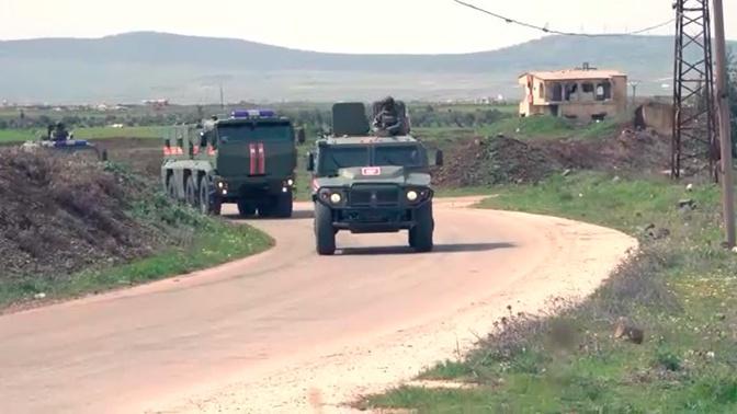 Минобороны раскрыло подробности взрыва на пути российского патруля в Сирии