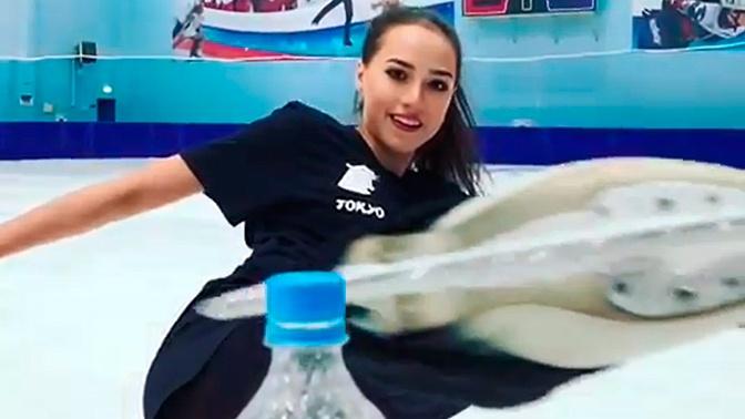 Поцелуй лезвия: Загитова исполнила необычный трюк на коньках