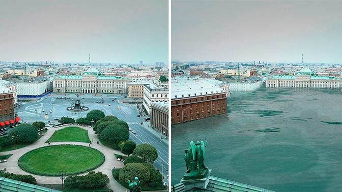Высохший Байкал и затопленный Петербург: в Сети появились фото «состарившейся» Земли