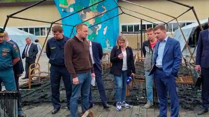 «Каждый получит по заслугам»: глава Хабаровского края осмотрел место пожара в «Холдоми»