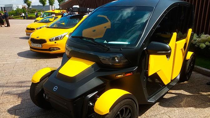 «Калашников» представил электромобиль для такси икаршеринга