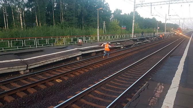 В Балашихе обрушилась часть платформы на станции «Черная»