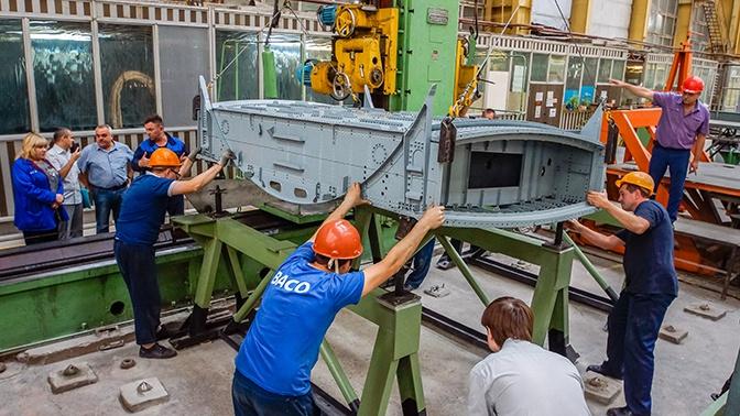 Сборка первого агрегата самолета Ил-114-300 завершена в Воронеже