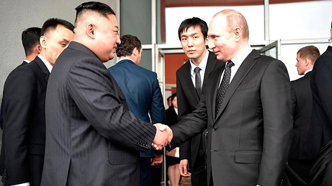 Ким Чен Ын и Путин обменялись поздравлениями