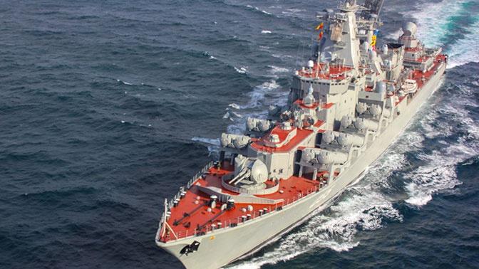 Крейсер «Маршал Устинов» вошел в Средиземное море