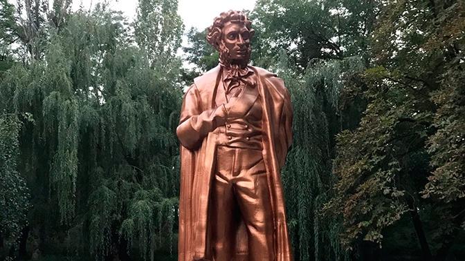 В Донецке открыли напечатанный на 3D-принтере памятник Пушкину