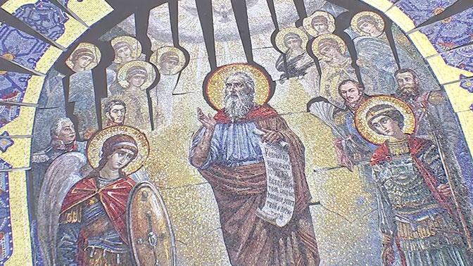 Художники представили мозаичные тимпаны для Главного храма ВС РФ