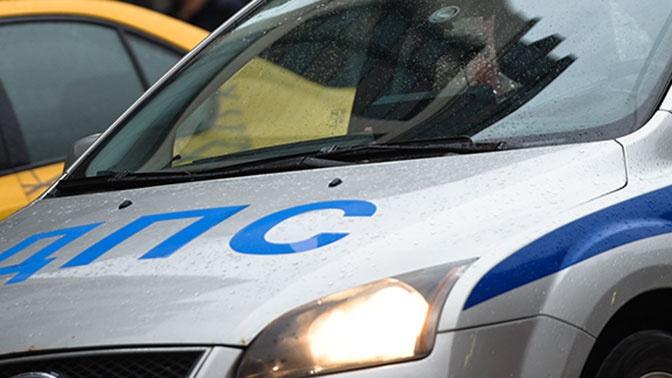 Грузовик сбил четырех дорожных рабочих на МКАД
