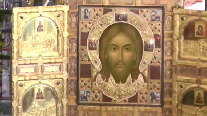 Главную икону строящегося храма ВС РФ выставили в Бишкеке