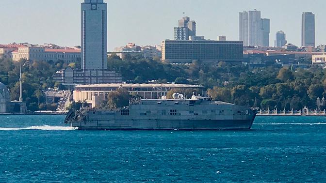 ЧФ взял на сопровождение вошедшее в Черное море судно ВМС США