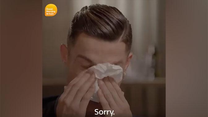 Роналду расплакался после просмотра видео с его умершим отцом