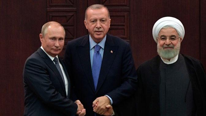 Путин, Эрдоган и Роухани осудили удары Израиля по Сирии