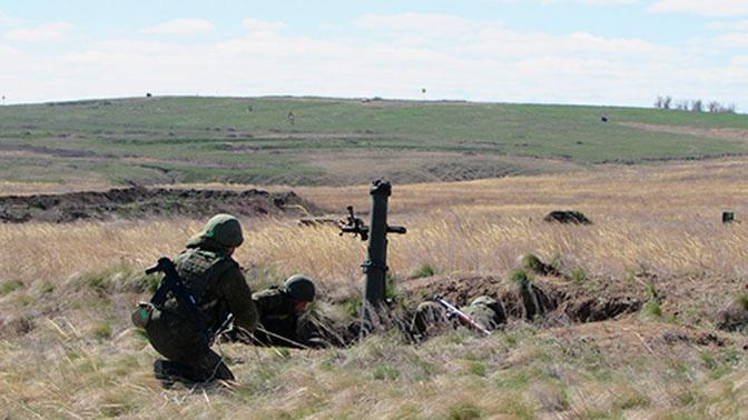 Минометчики из Тувы накрыли огнем караван условных террористов в степях Южного Казахстана