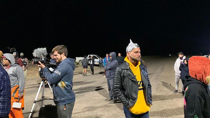 Человека с «антенной» на голове заметили возле «Зоны 51» в США