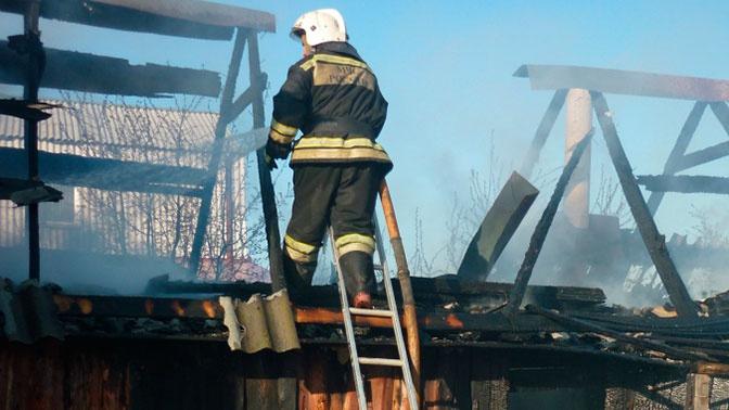 Семья с ребенком погибла при пожаре в доме в Удмуртии