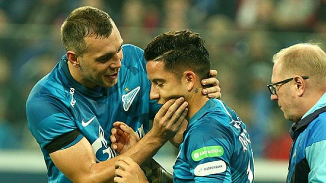 Форвард «Зенита» получил сотрясение на матче с «Рубином»