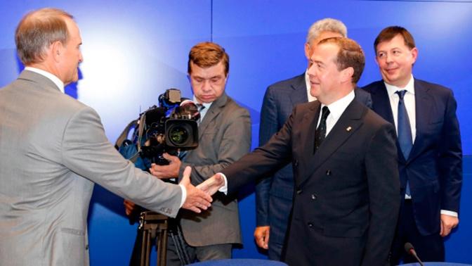 Медведев провел встречу с Медведчуком