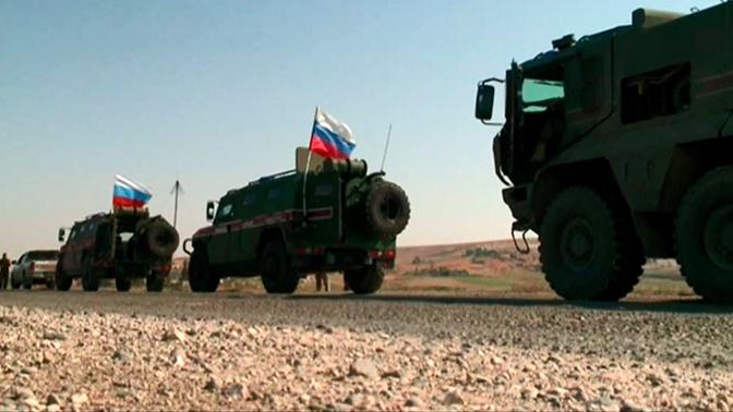Военная полиция России впервые совершила патрулирование на севере Сирии