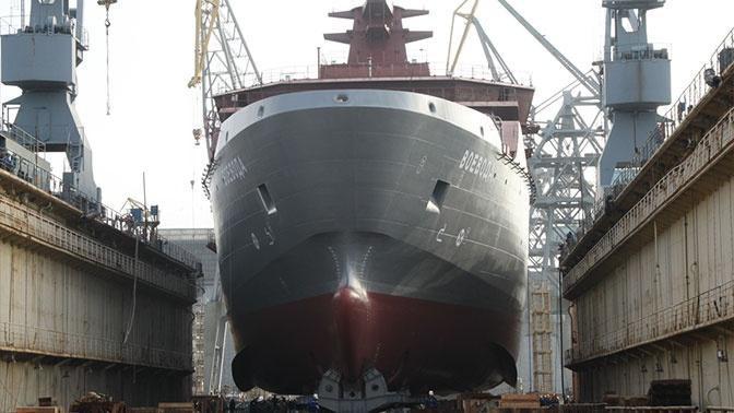 Новейшее судно «Воевода» спущено на воду в Калининграде