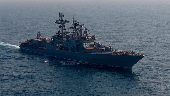 Модернизированный фрегат «Маршал Шапошников» вывели из сухого дока