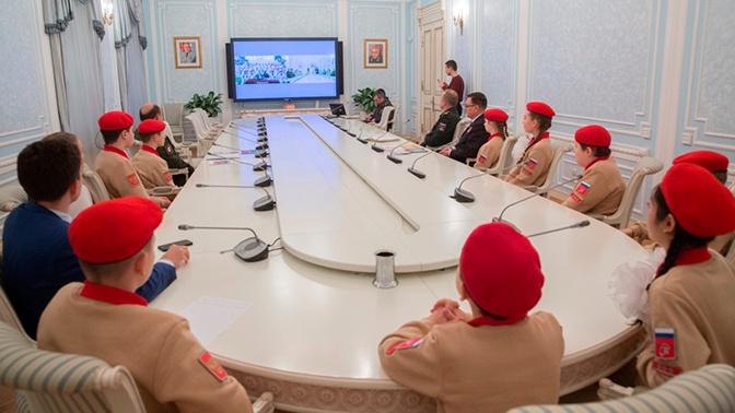 Юнармейцы Москвы и Владикавказа подружились благодаря телемосту