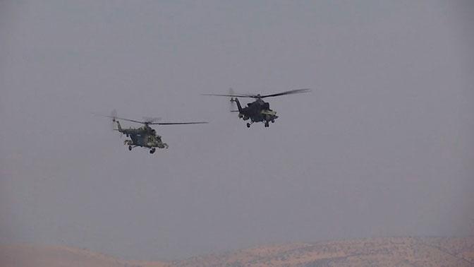 В небе Сирии: армейская авиация РФ провела воздушное патрулирование