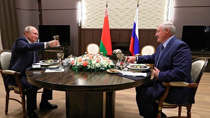 Путин поздравил Лукашенко с юбилеем подписания договора о Союзном государстве