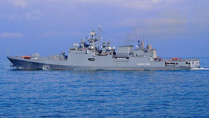 Экипаж фрегата «Адмирал Эссен» выполнил стрельбы в Черном море