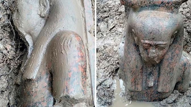 Уникальный артефакт: в Египте нашли статую Рамзеса II