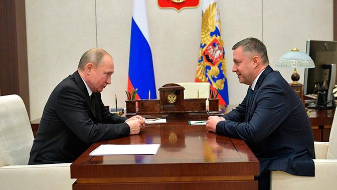 Путин присвоил врио губернатора Иркутской области новое звание