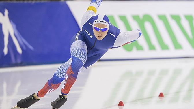 Конькобежец Кулижников выиграл золото на дистанции 1000 м на этапе КМ в Японии